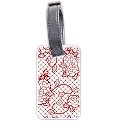 Transparent Decorative Lace With Roses Luggage Tags (Two Sides)