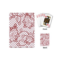 Transparent Decorative Lace With Roses Playing Cards (Mini)