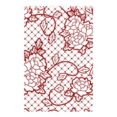 Transparent Decorative Lace With Roses Shower Curtain 48  X 72  (small)