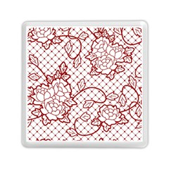 Transparent Decorative Lace With Roses Memory Card Reader (Square)