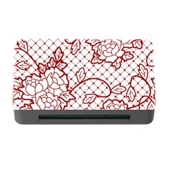 Transparent Decorative Lace With Roses Memory Card Reader with CF