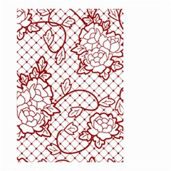 Transparent Decorative Lace With Roses Small Garden Flag (Two Sides)