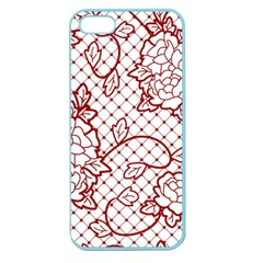 Transparent Decorative Lace With Roses Apple Seamless Iphone 5 Case (color)