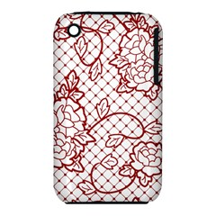 Transparent Decorative Lace With Roses Iphone 3s/3gs