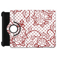 Transparent Decorative Lace With Roses Kindle Fire Hd 7