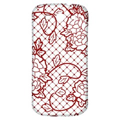 Transparent Decorative Lace With Roses Samsung Galaxy S3 S Iii Classic Hardshell Back Case