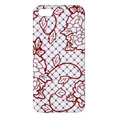 Transparent Decorative Lace With Roses Apple iPhone 5 Premium Hardshell Case