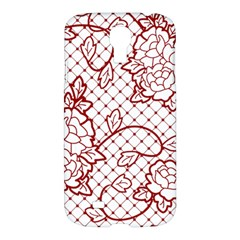 Transparent Decorative Lace With Roses Samsung Galaxy S4 I9500/I9505 Hardshell Case