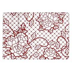Transparent Decorative Lace With Roses Samsung Galaxy Tab 10.1  P7500 Flip Case