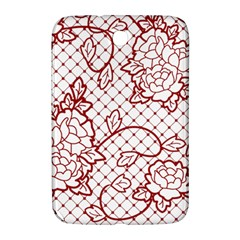 Transparent Decorative Lace With Roses Samsung Galaxy Note 8 0 N5100 Hardshell Case
