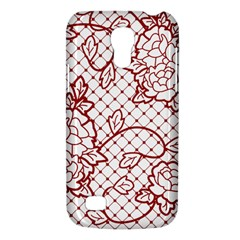 Transparent Decorative Lace With Roses Galaxy S4 Mini