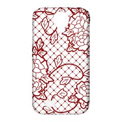 Transparent Decorative Lace With Roses Samsung Galaxy S4 Classic Hardshell Case (pc+silicone)