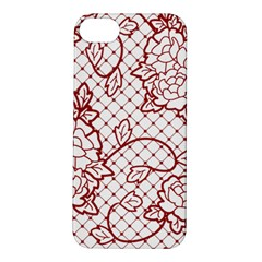 Transparent Decorative Lace With Roses Apple iPhone 5S/ SE Hardshell Case