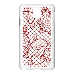 Transparent Decorative Lace With Roses Samsung Galaxy Note 3 N9005 Case (white)