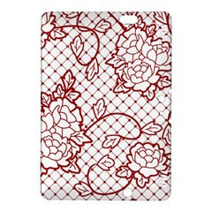 Transparent Decorative Lace With Roses Kindle Fire HDX 8.9  Hardshell Case