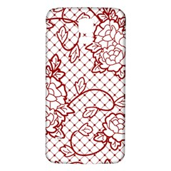 Transparent Decorative Lace With Roses Samsung Galaxy S5 Back Case (white)