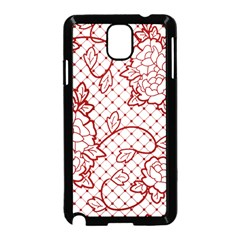 Transparent Decorative Lace With Roses Samsung Galaxy Note 3 Neo Hardshell Case (black)