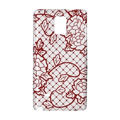 Transparent Decorative Lace With Roses Samsung Galaxy Note 4 Hardshell Case