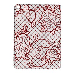 Transparent Decorative Lace With Roses Ipad Air 2 Hardshell Cases