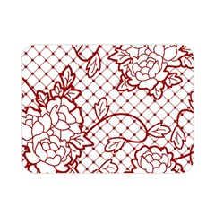 Transparent Decorative Lace With Roses Double Sided Flano Blanket (mini)