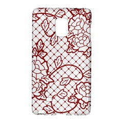 Transparent Decorative Lace With Roses Galaxy Note Edge