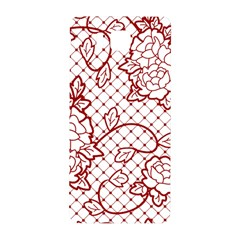 Transparent Decorative Lace With Roses Samsung Galaxy Alpha Hardshell Back Case