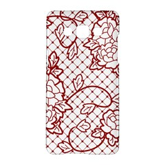Transparent Decorative Lace With Roses Samsung Galaxy A5 Hardshell Case