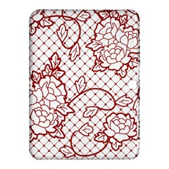Transparent Decorative Lace With Roses Samsung Galaxy Tab 4 (10 1 ) Hardshell Case