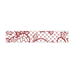 Transparent Decorative Lace With Roses Flano Scarf (Mini)