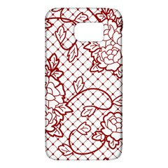 Transparent Decorative Lace With Roses Galaxy S6