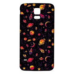 Space pattern Samsung Galaxy S5 Back Case (White)