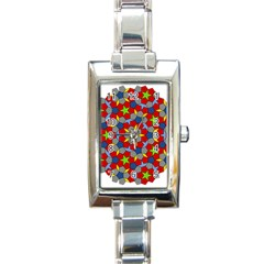 Penrose Tiling Rectangle Italian Charm Watch
