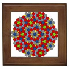 Penrose Tiling Framed Tiles