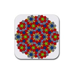 Penrose Tiling Rubber Coaster (square)