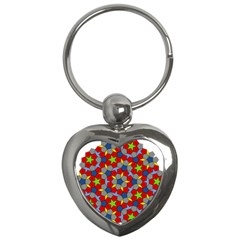 Penrose Tiling Key Chains (Heart)
