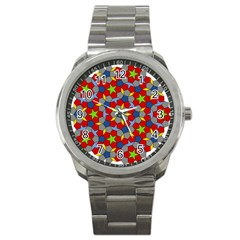Penrose Tiling Sport Metal Watch