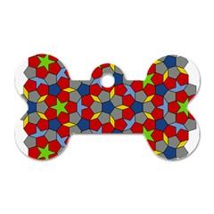 Penrose Tiling Dog Tag Bone (One Side)