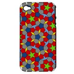Penrose Tiling Apple iPhone 4/4S Hardshell Case (PC+Silicone)