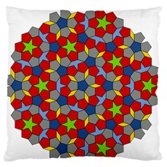 Penrose Tiling Standard Flano Cushion Case (two Sides)