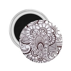 Henna Line Art Clipart 2 25  Magnets