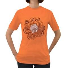 Henna Line Art Clipart Women s Dark T Shirt