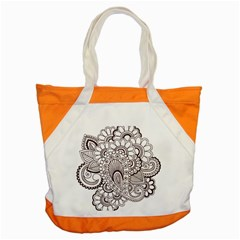Henna Line Art Clipart Accent Tote Bag