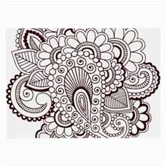 Henna Line Art Clipart Large Glasses Cloth (2 Side)