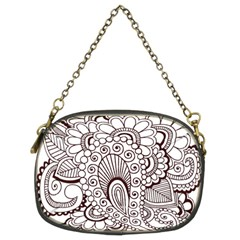 Henna Line Art Clipart Chain Purses (Two Sides)