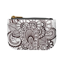 Henna Line Art Clipart Mini Coin Purses