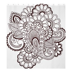 Henna Line Art Clipart Shower Curtain 66  X 72  (large)