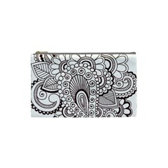 Henna Line Art Clipart Cosmetic Bag (small)