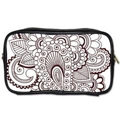 Henna Line Art Clipart Toiletries Bags