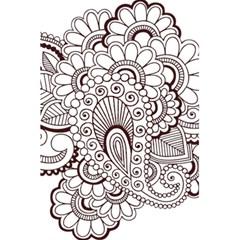 Henna Line Art Clipart 5 5  X 8 5  Notebooks