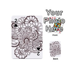 Henna Line Art Clipart Playing Cards 54 (mini)